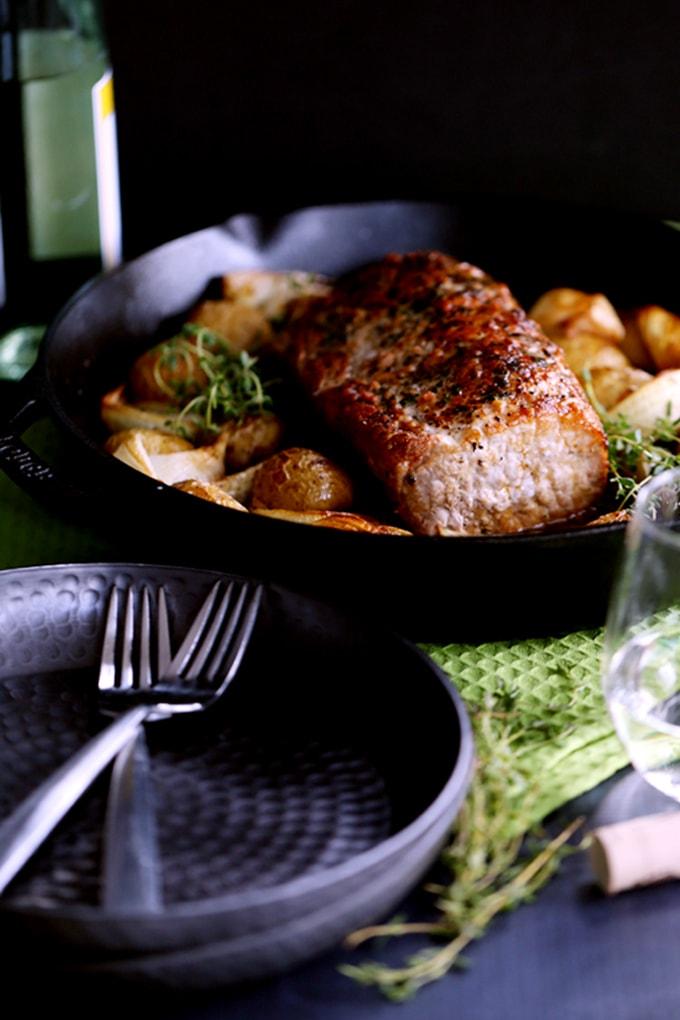Thyme-Crusted Pork Roast