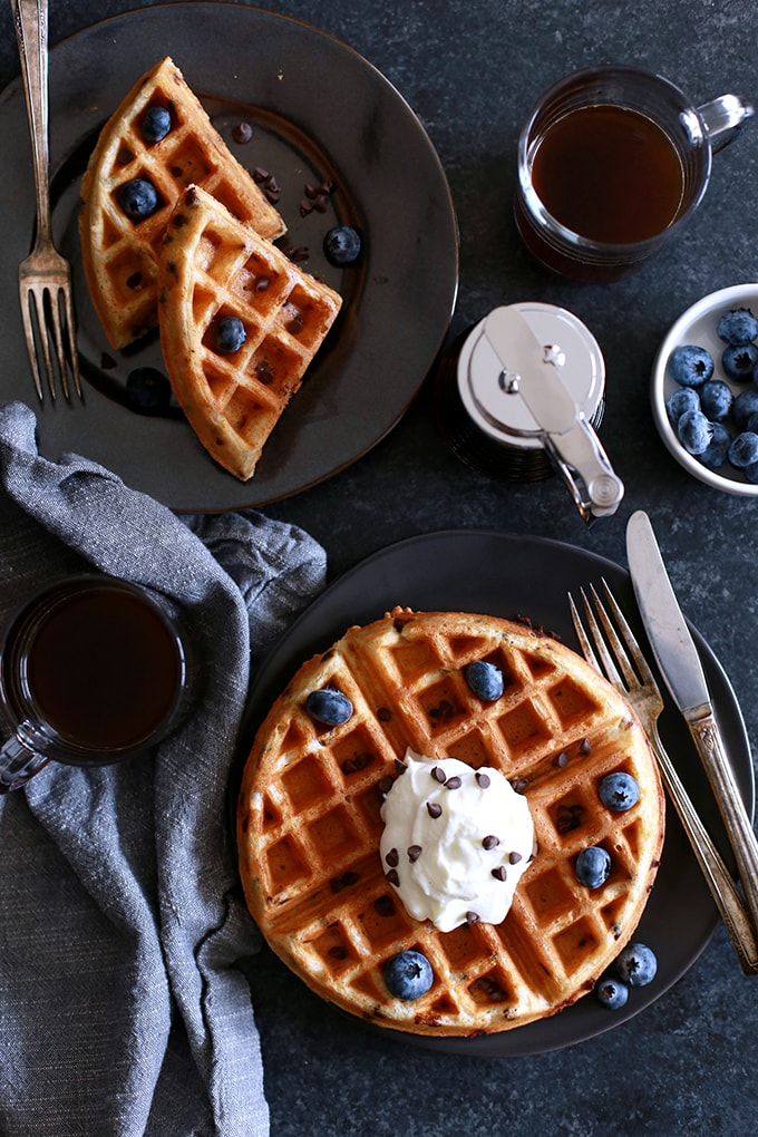 Chocolate Chip Yogurt Waffles