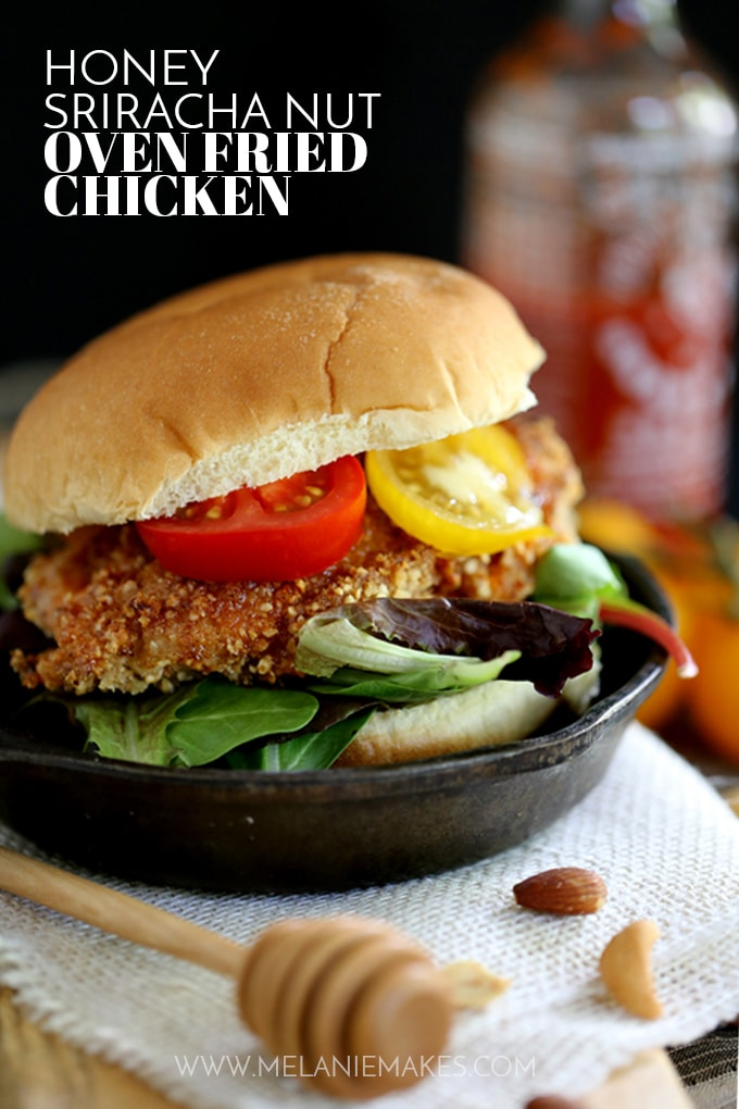 Honey Sriracha Nut Oven Fried Chicken