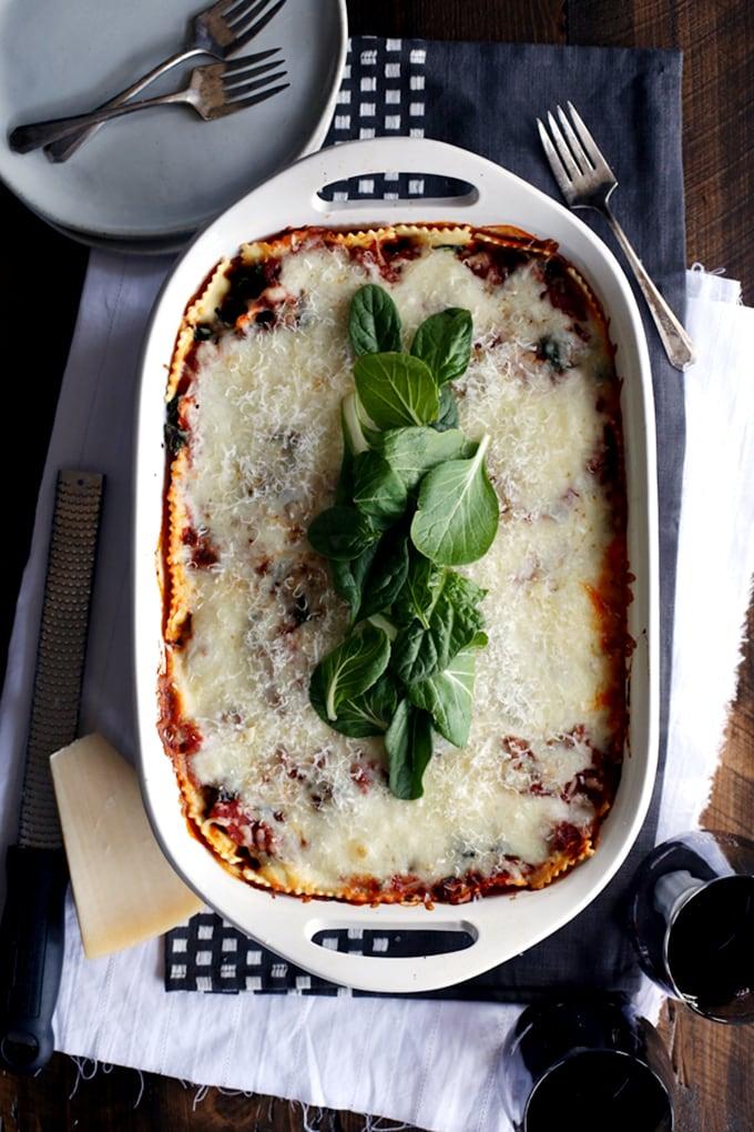 Quick & Easy Ravioli and Spinach Lasagna