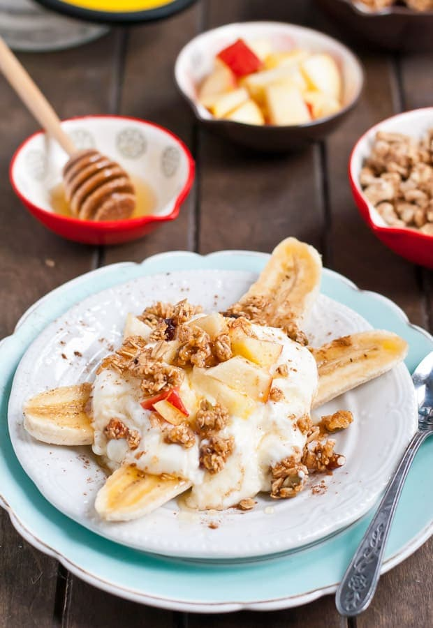 Cinnamon Apple Breakfast Banana Split