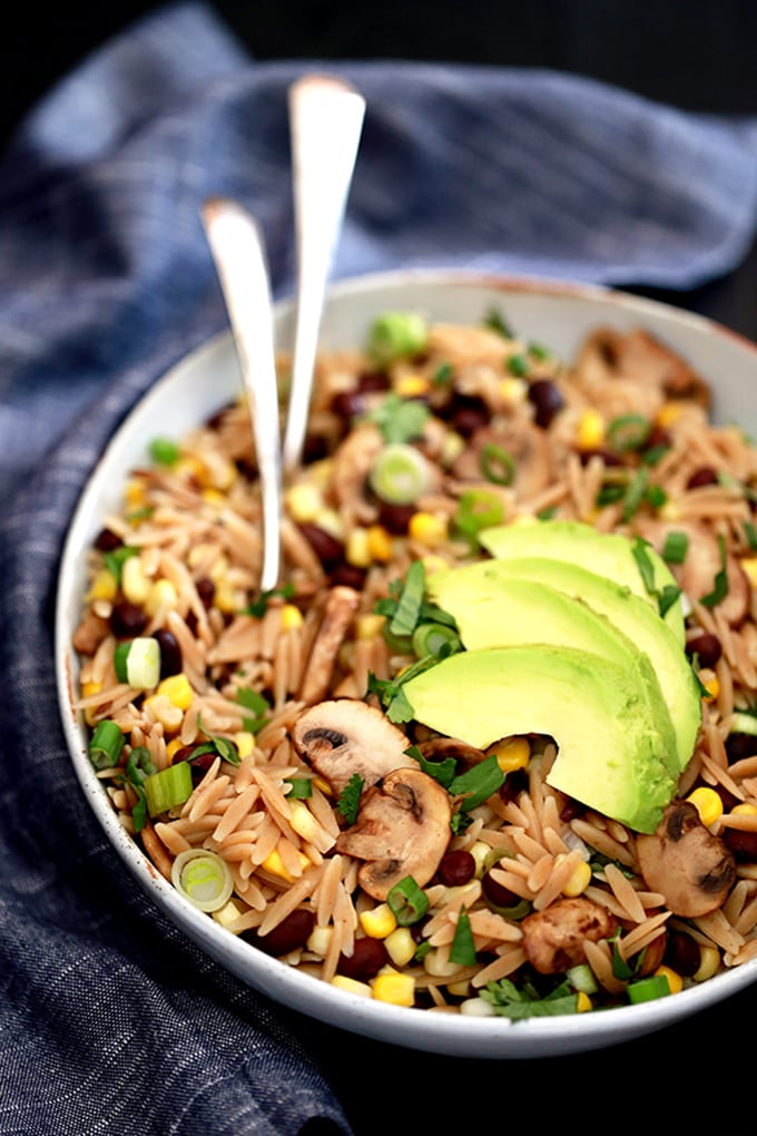 Orzo Black Bean Salad