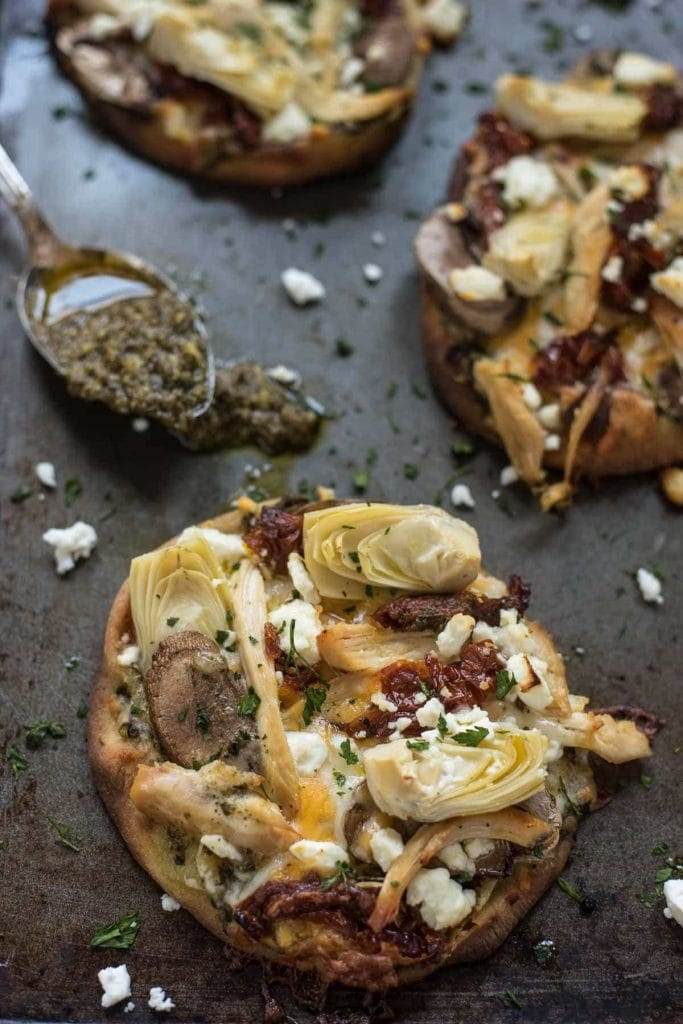 Pesto Chicken Artichoke Pizza
