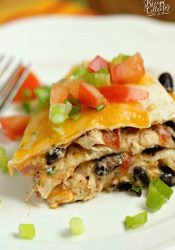 Santa Fe Chicken Enchilada Stack