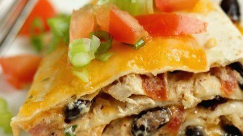 Santa Fe Chicken Enchilada Stack Diary Of A Recipe Collector