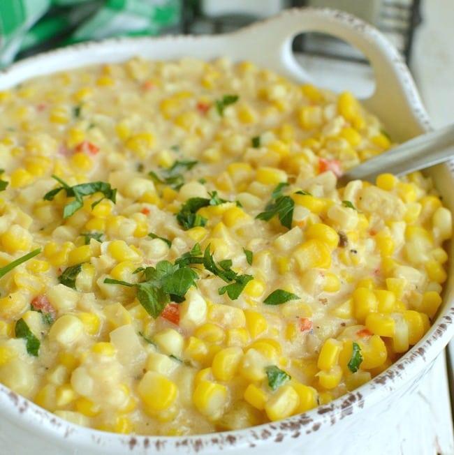 Slow Cooker Cheesy Creamed Corn