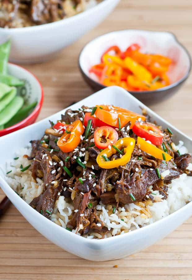Slow Cooker Honey Sesame Beef Bowls