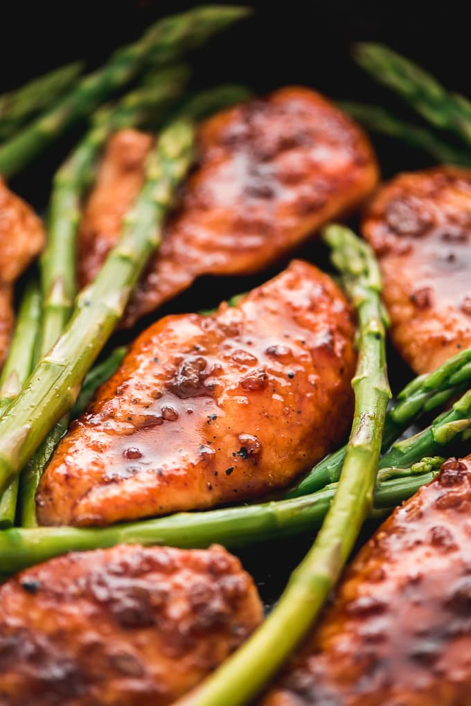 Honey Garlic Chicken & Asparagus