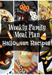 Weekly Family Meal Plan:  Halloween Recipes