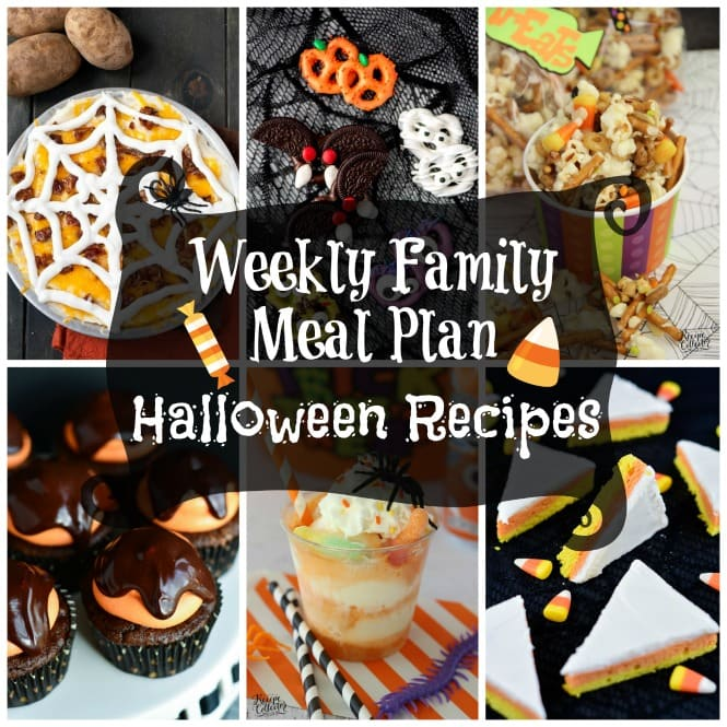 Weekly Family Meal Plan - Halloween Recipes