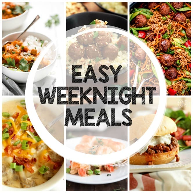 Weekly Family Meal Plan- Easy Weeknight Meals - Twelve easy dinner recipe ideas perfect for your busy week!