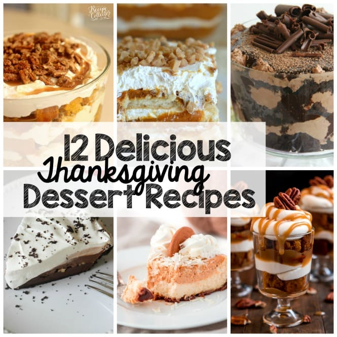 Weekly Family Meal Plan- Thanksgiving Dessert Recipes - Fifteen great dessert recipe ideas to make your holiday easy!