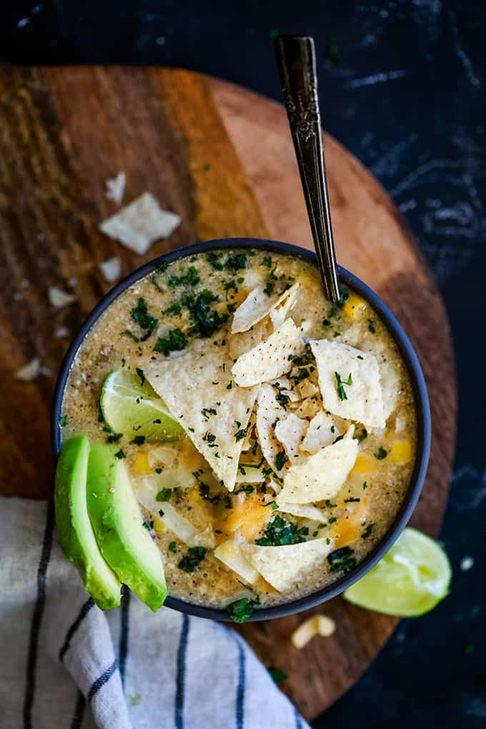 Slow Cooker Coconut Lime White Chicken Chili