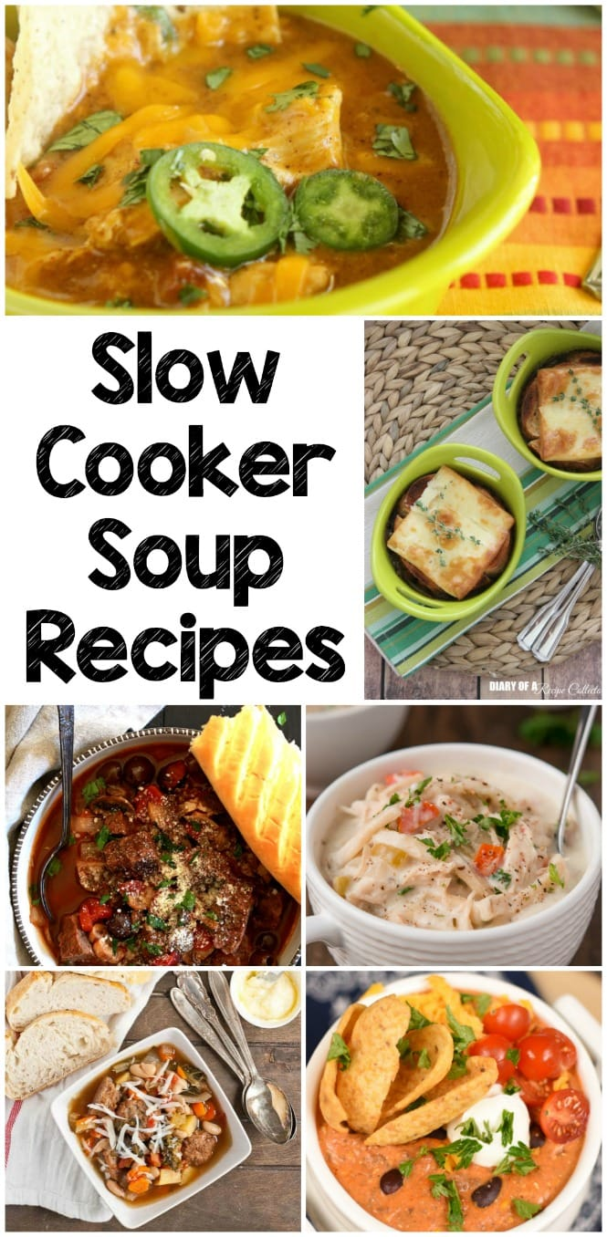 Weekly Family Meal Plan- Featuring severalslow cooker soup recipes perfect for winter weather!