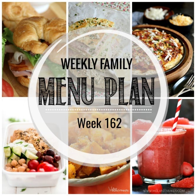 Weekly Family Meal Plan #162