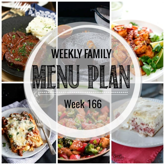 Weekly Family Meal Plan #166
