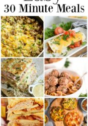 Weekly Family Meal Plan – 30 Minute Meals