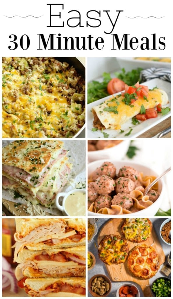 Weekly Family Meal Plan- Featuring several 30 Minute Meals that are perfect for busy weeknights!