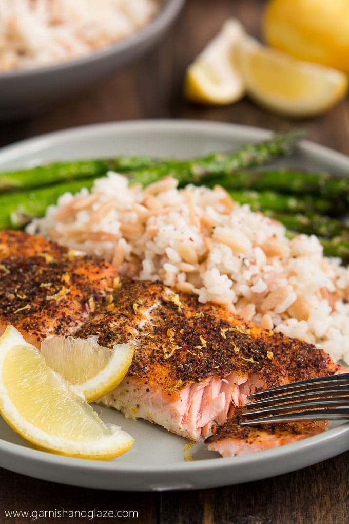 Simple Salmon and Asparagus
