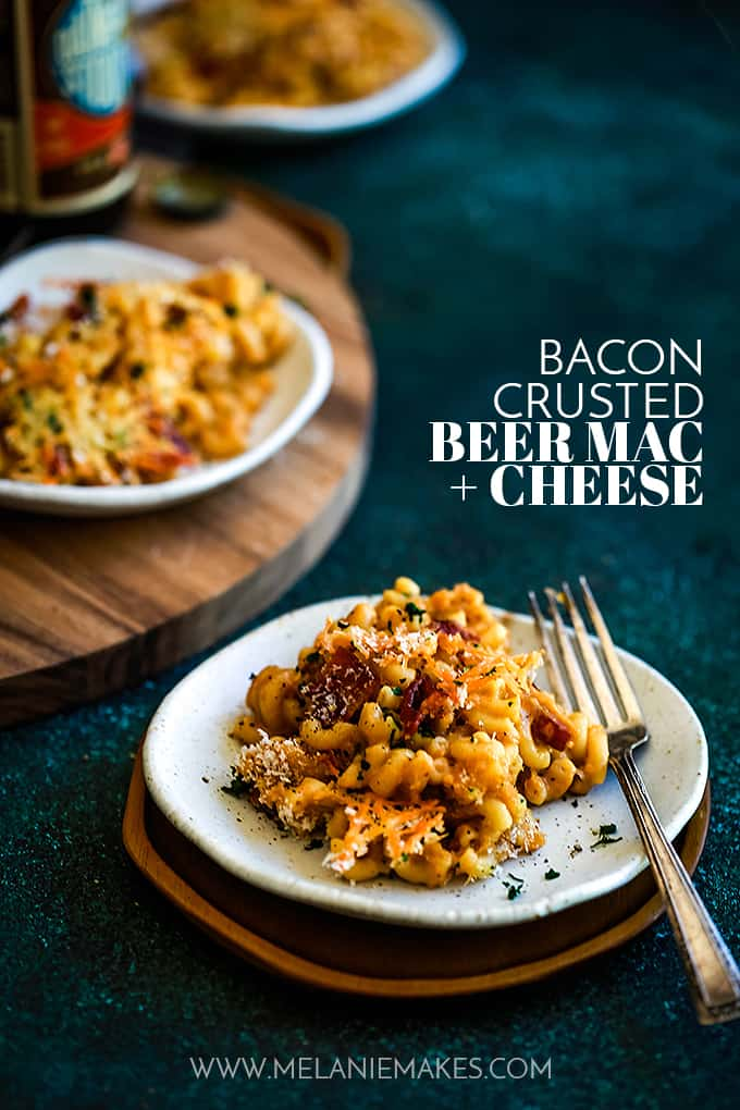 Bacon Crusted Beer Mac & Cheese