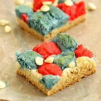 Red, White, and Blue Cookie Bars