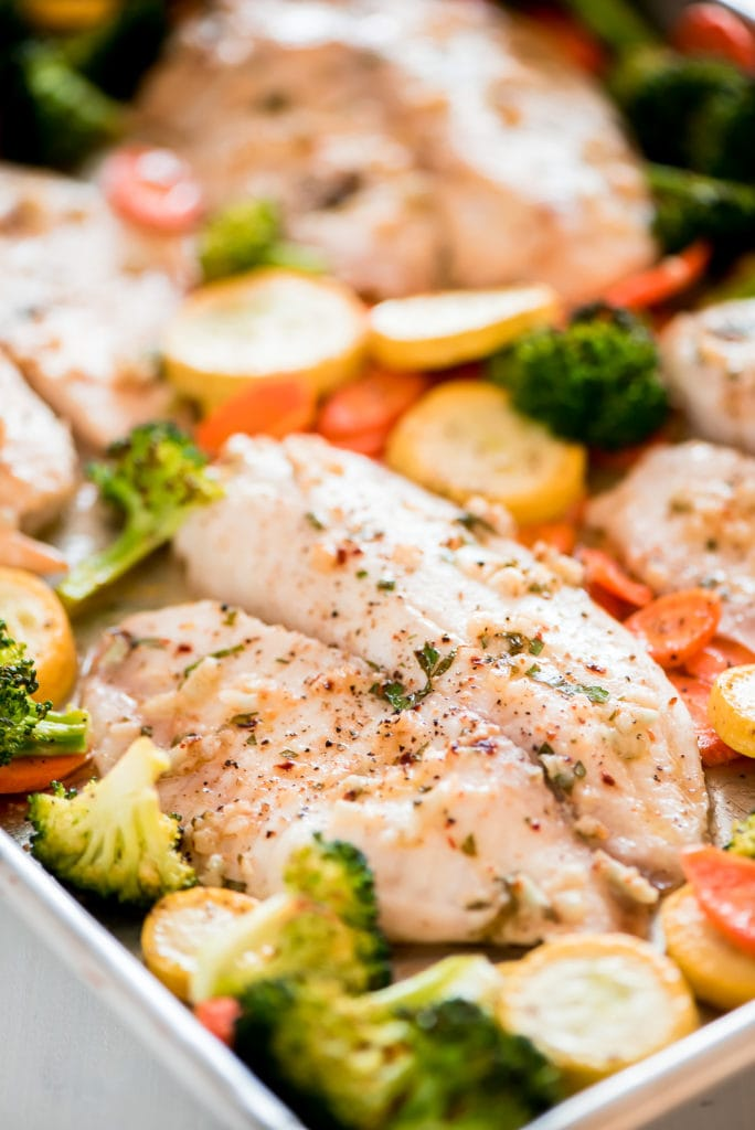 Sheet Pan Baked Tilapia
