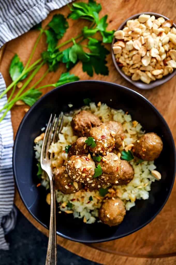 Thai Chile Peanut Meatballs