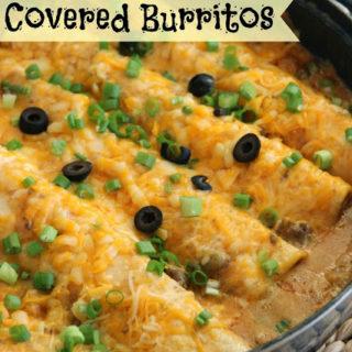 Skillet Covered Burritos