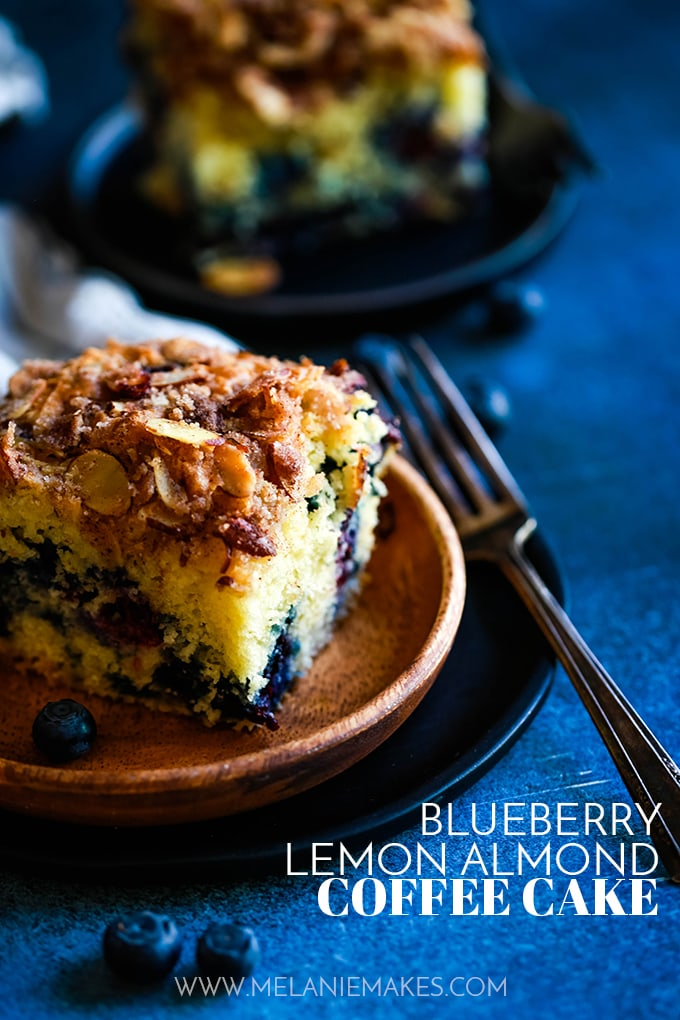 Blueberry Lemon Almond Coffee Cake