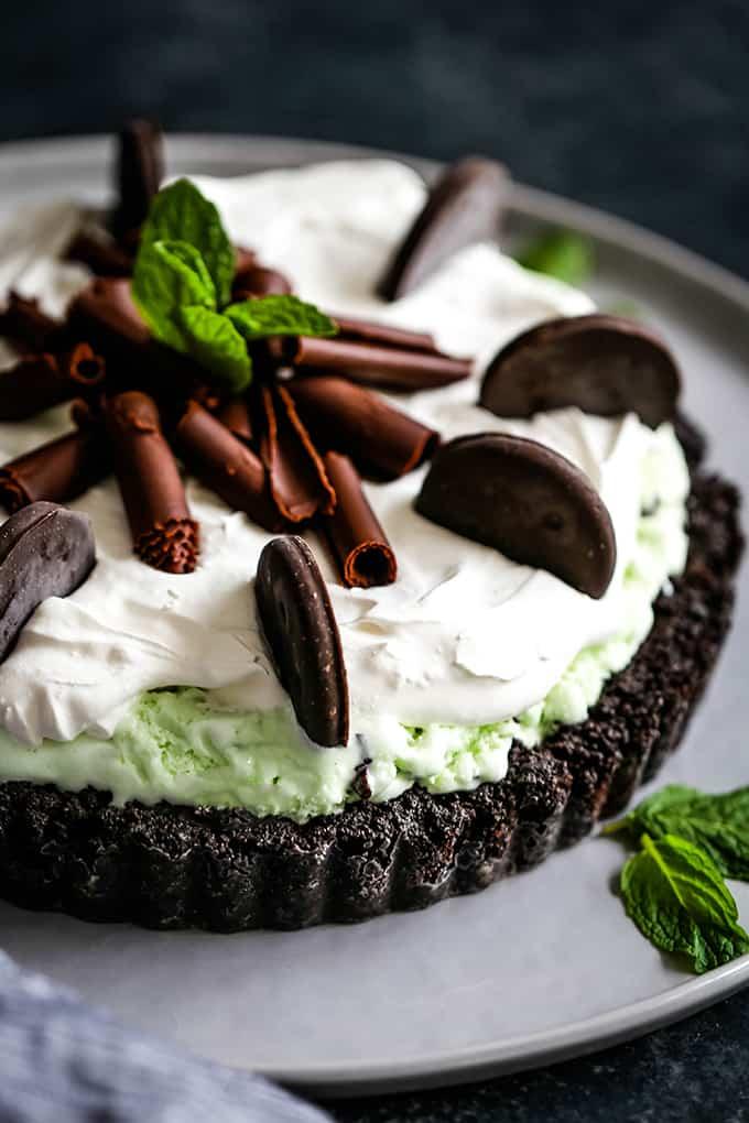 Grasshopper Ice Cream Tart