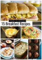 15 Back To School Breakfast Recipes