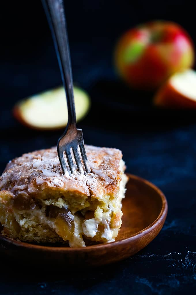 Caramel Apple Cheesecake Coffee Cake