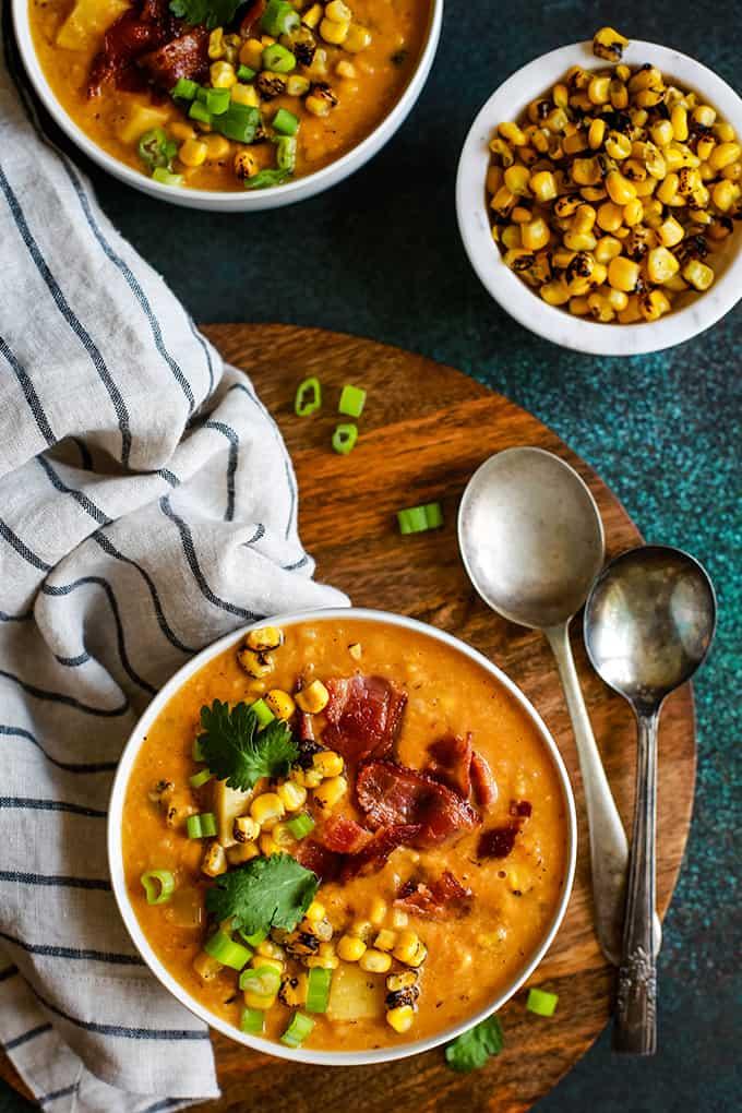 Slow Cooker Chipotle Pumpkin Corn Chowder