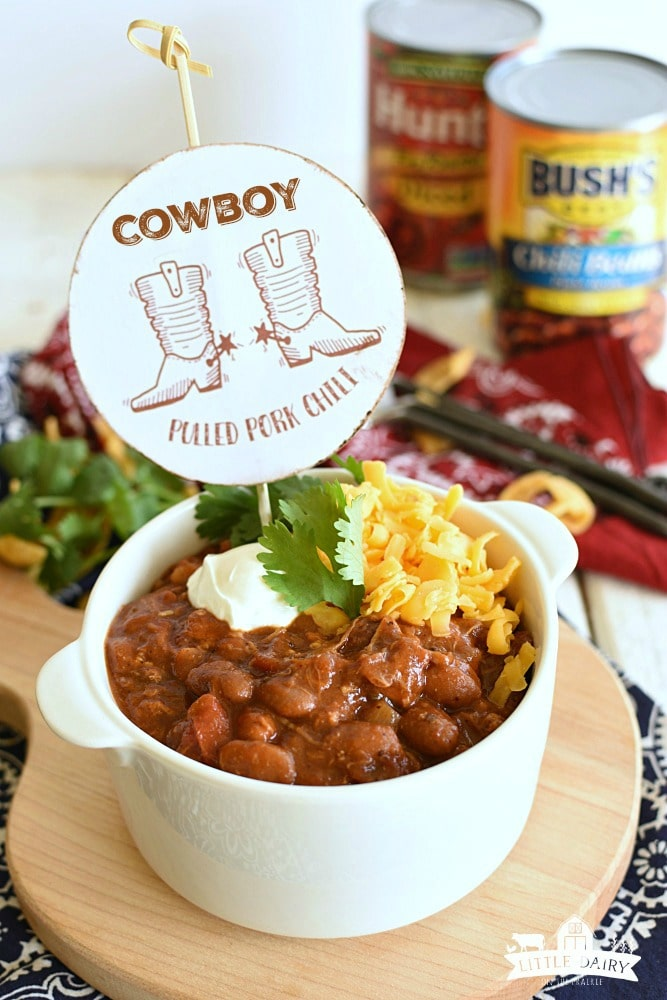 Cowboy Pulled Pork Chili