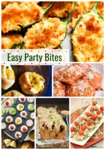 Easy Party Bites Recipes - Need a good finger food recipe to take to a holiday party?  This list has some great ideas for your next gathering!