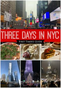 First Timer's Guide to Three Days in New York City - How to maximize your fun and fit it all in three days! Here you'll find ideas for dining, sight-seeing, and shopping!
