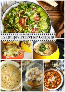 15 Recipes Perfect for Company - From salads to main dishes to dessert, here are some great meal ideas for entertaining company over the holidays!