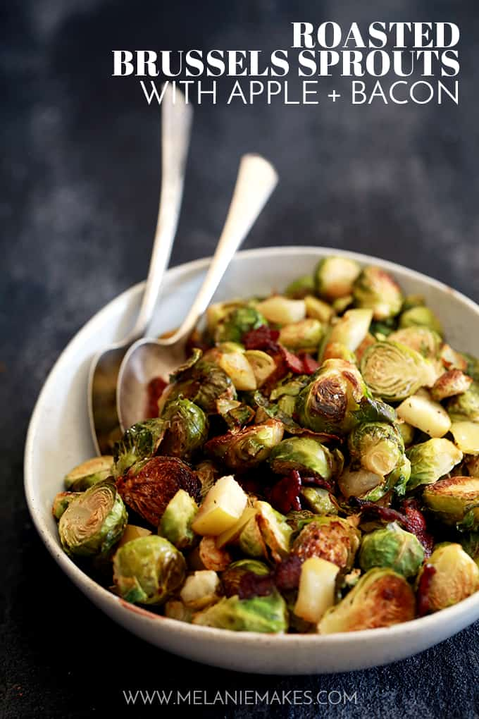 Roasted Brussel Sprouts with Apple and Bacon