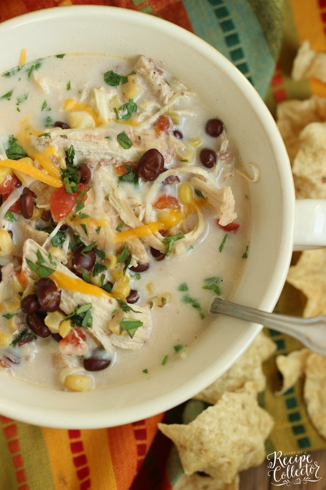 Instant Pot Creamy Chicken Tortilla Soup - A comforting creamy chicken soup recipe made easy using an instant pot.