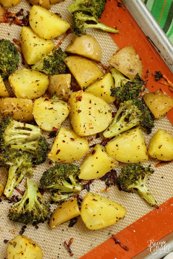 Spicy Parmesan Potatoes And Broccoli Diary Of A Recipe Collector