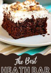 Best Ever Heath Bar Poke Cake