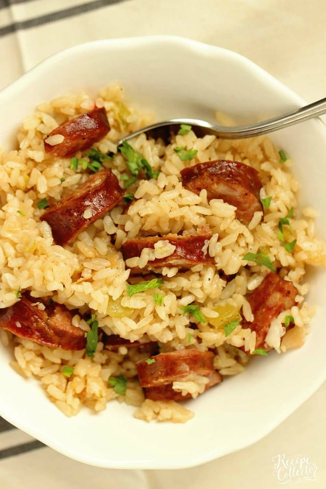 Simple Instant Pot Jambalaya - An easy weeknight version of the classic Cajun jambalaya recipe. Only a little time and a few ingredients to this Cajun dish!