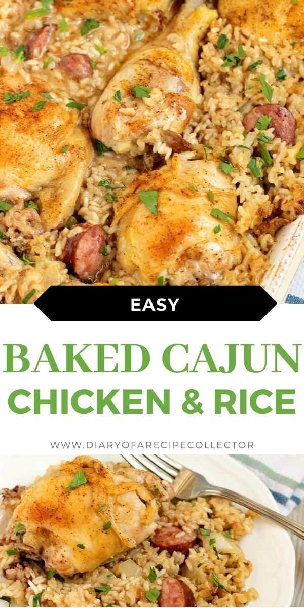 Cajun Baked Chicken and Rice - An easy to put together delicious chicken dinner recipe that will leave your home smelling amazing!