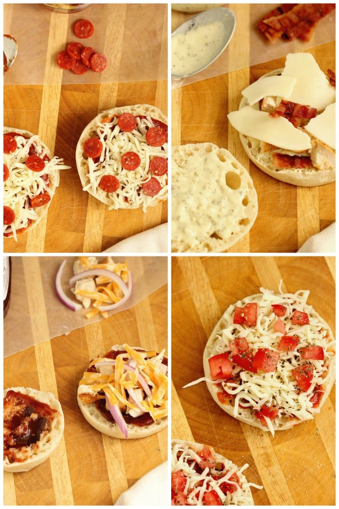 English Muffin Pizzas - This little recipe has many combinations to make the most wonderful little pizza snacks on the planet. Find your favorite and be sure to check out the video!