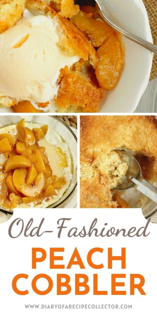 Old-Fashioned Peach Cobbler Recipe - A quick and easy to prepare cobbler with a light sweetened cake topping!