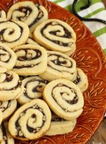 Apple Butter Cinnamon Swirl Cookies - A perfect Fall cookie recipe with an easy homemade dough and a cinnamon sugar apple butter filling.