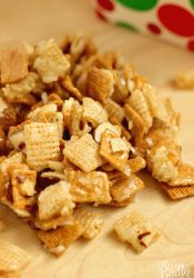 Christmas Crunch - Get ready for some serious snacking!  This sweet snack mix will be a hit!  It's wonderfully addicting and perfect for an appetizer and even a gift!