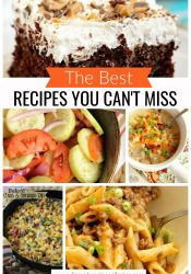 Best Recipes You Can't Miss - Favorite recipes of ours that need a little love!  You'll want to try them all!