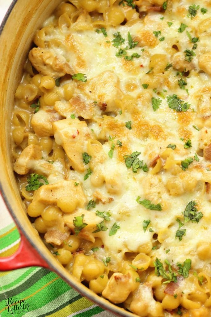 One-Pot Cheesy Chicken Popper and Bacon Pasta - An easy 30 minute dinner recipe filled with cheesy bacon goodness!